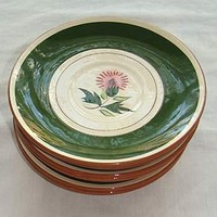 6 Stangle Vintage 50s Thistle Saucers Plates | NeldasVintageClothing - Kitchen & Serving on ArtFire