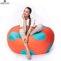 New Style  Removable Washable Lazy Bean Bag Living Room Furniture Linen Fabric sofa  Various Colors Chair diameter 50cm