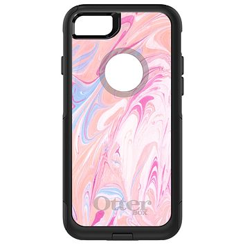DistinctInk™ OtterBox Commuter Series Case for Apple iPhone or Samsung Galaxy - Pink Blue White Marble