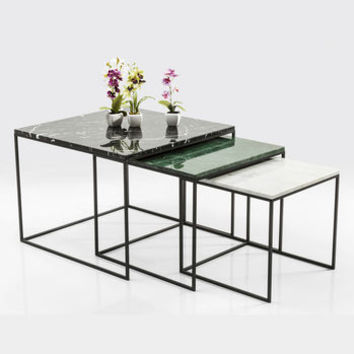 Nest Of Marble Top Coffee Tables