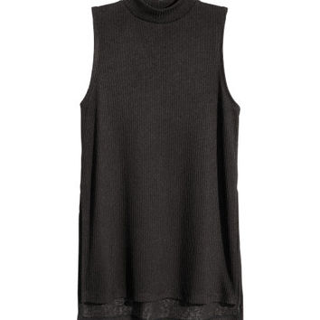 Fine-knit Sleeveless Top - from H&M