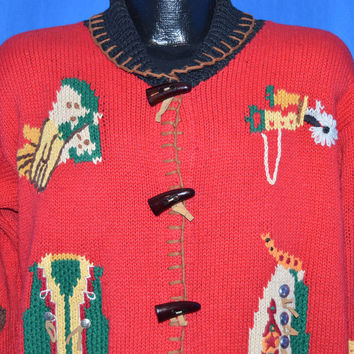 90s Western Cowboy Women's Ugly Sweater Medium