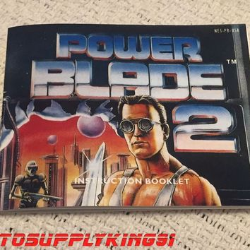 POWER BLADE 2 (Nintendo, NES) Video Game Custom Art Instruction Manual Only New