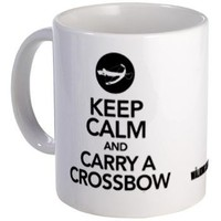 Keep Calm Carry a Crossbow Mug> Keep Calm Carry a Crossbow> The Walking Dead T-Shirts from Gold Label