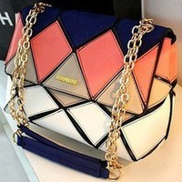 Unique Geometry Colorful Shoulder Bag