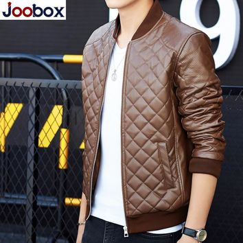 Trendy JOOBOX 2018 Fashion jacket men brand clothing male jackets casual men autumn coat wind breaker male bomber Faux Leather jacket AT_94_13