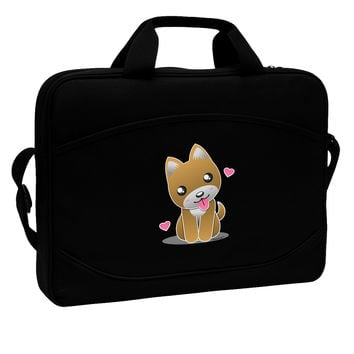 "Kawaii Puppy 15"" Dark Laptop / Tablet Case Bag"