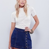 Free People Womens Keep On Rocking Asymmetrical Skirt