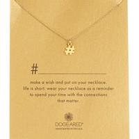 14K Gold Plated Sterling Silver Hashtag Necklace