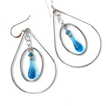Turquoise Pear Earrings