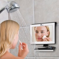 Fogless Shower Mirror with Squeegee by ToiletTree Products. Guaranteed Not to Fog, Designed Not to Fall. #1 Selling and Ranked by Amazon Customers. (Silver)