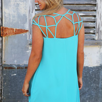 Charlotte's Web Dress {Blue}