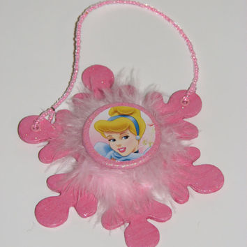 Disney Princess Cinderella Door Knob Hanger - Girls Princess Room Decor - Christmas Ornament