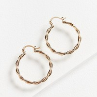 Vanessa Twisted Hoop Earring | Urban Outfitters
