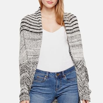 Women's Two by Vince Camuto Marled Stripe Open Front Cardigan,