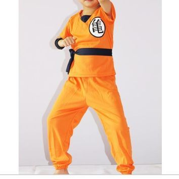Japanese SON GOKU Children's Halloween Anime Dragon Ball Z Monkey Cosplay Costumes Boys Clothes Kids Party Costume S~XXL