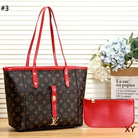 Free Shipping-LV retro women's large-capacity shopping bag mother bag two-piece #3