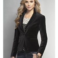 The Manhattan Jacket - Velvet - Jackets - New York  & Company