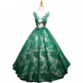 Green Dresses Sweet 16 Ball Gown Lace Red Navy Blue Party Gowns