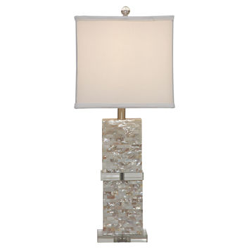 Bridget Table Lamp, Mother of Pearl, Table Lamps