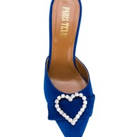 Paris Texas Heart Embellished Pointed Mules - Farfetch