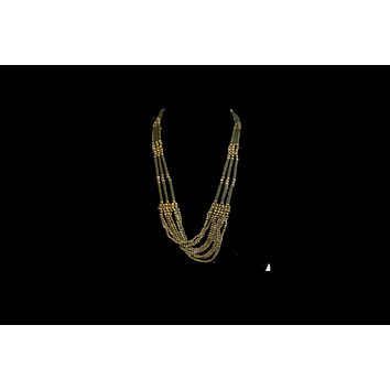 3 Strands Pearl Bronze Faux Women's Beads Necklace