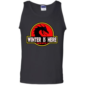 Winter is Here! Dracarys Mother of Dragons Park Jurassic Parody Tank Top