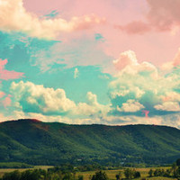 Candy Mountains Art Print | Print Shop