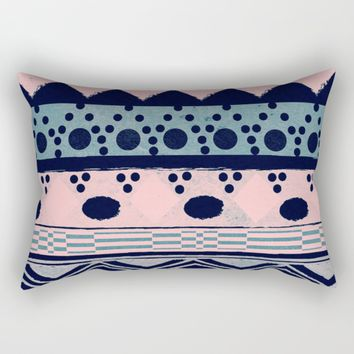 PASTEL NORDIC TRIBAL II Rectangular Pillow by Nika | Society6