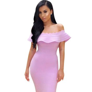 Summer Bandage Dress Women Celebrity Party  Dress