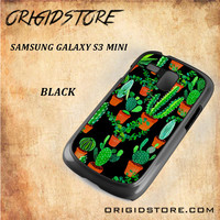 Cactus Black Pattern For Samsung Galaxy S3 Mini - Gift Present Multiple Choice