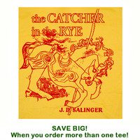 Catcher in the Rye T Shirt Book T Shirt Reading T Shirt Writer Tee Shirt