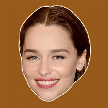 Happy Emilia Clarke Mask - Perfect for Halloween, Costume Party Mask, Masquerades, Parties, Festivals, Concerts - Jumbo Size Waterproof Laminated Mask