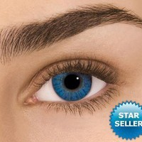 ~Brilliant Blue Freshlook Colorblends Non Prescription Colored Contact Lenses