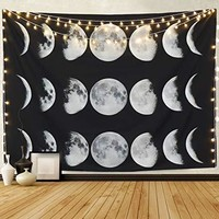 """Moon Phases Tapestry 51.2"""" x 59.1"""""""