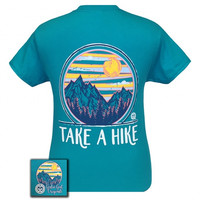 Girlie Girl Originals Take A Hike Tropical Blue T-Shirt