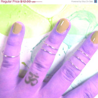 Knuckle Rings - Set of 4 - Available in 10 colors - Stackable, Adjustable Cute Summer Trendy Midi Rings - Mid Finger Bands