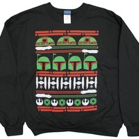 Official Star Wars Epic Ugly Sweater Christmas Edition Crew Neck Sweatshirt