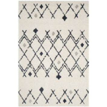 Bungalow Rose Sakina Cream/Navy Area Rug & Reviews | Wayfair