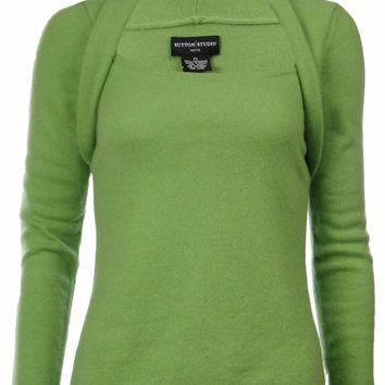 Sutton Studio Women's 100% Cashmere Shrug Neck Sweater