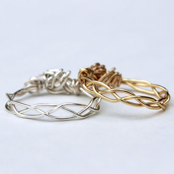 Braided Ring Set