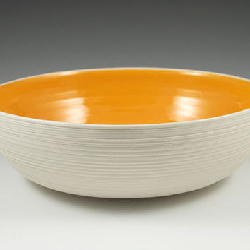 SALE Large Groove Serving Bowl - second