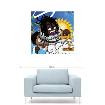 "Chief Keef - Dedication Mixtape Cover 20"" x 20"" Premium Canvas Gallery Wrap Home Wall Art Print"