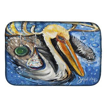 Pelican Dressed as a Reindeer Dish Drying Mat JMK1020DDM