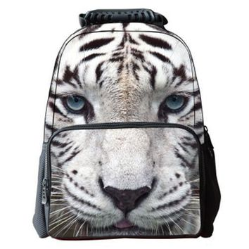 3D Animals Print School Backpack