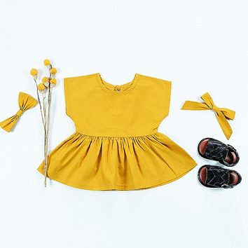 Infant Toddler Baby Girls Princess Pageant Party Dress Newborn Kids Summer Clothes 0-24M New Arrival
