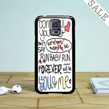 We The Kings Check Yes Juliet Lyric Cover Samsung Galaxy S5 Case