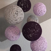 NEW ITEM!!! Purple, Orchid & Graymist Yarn Ball Mobile