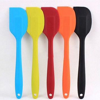 Cake Cream Butter Spatula Mixing Batter Brush Silicone Baking Tool