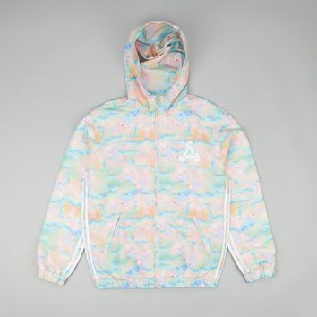 Adidas x Palace Hooded Bomber Jacket - Multicolor / Black